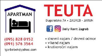 Dnevni najam apartmana/stana u Zagrebu-J