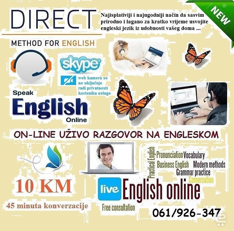 Instrukcije engleski - SKYPEUsluge